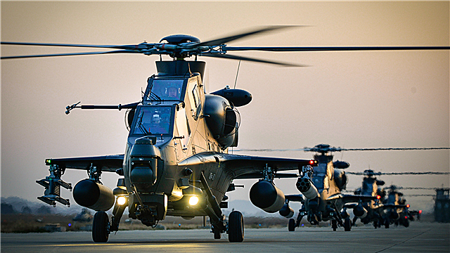 Attack helicopters lift off