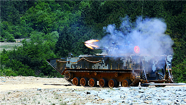 Amphibious IFVs fire HJ-73A anti-tank missile