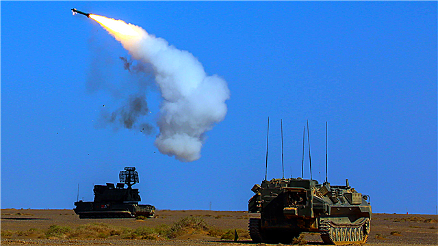 Tor anti-aircraft missile system fires at aerial target