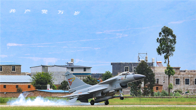 J-10 fighter jet hits ground targets