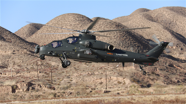 Multi-type choppers conduct flight training