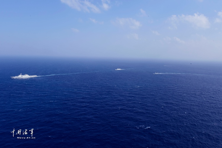 China's 30th and 31st naval escort taskforces join forces in